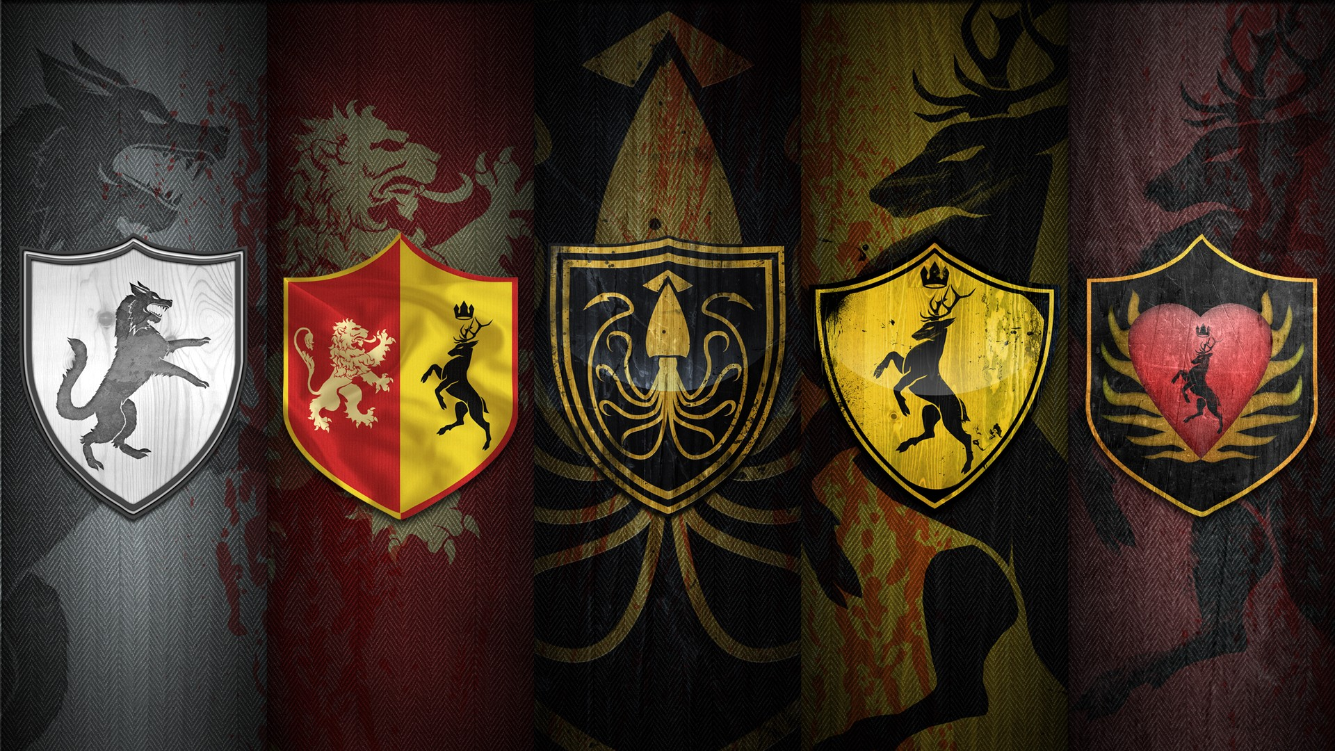 Game of Thrones Wallpaper Houses Game of Thrones House Sigils
