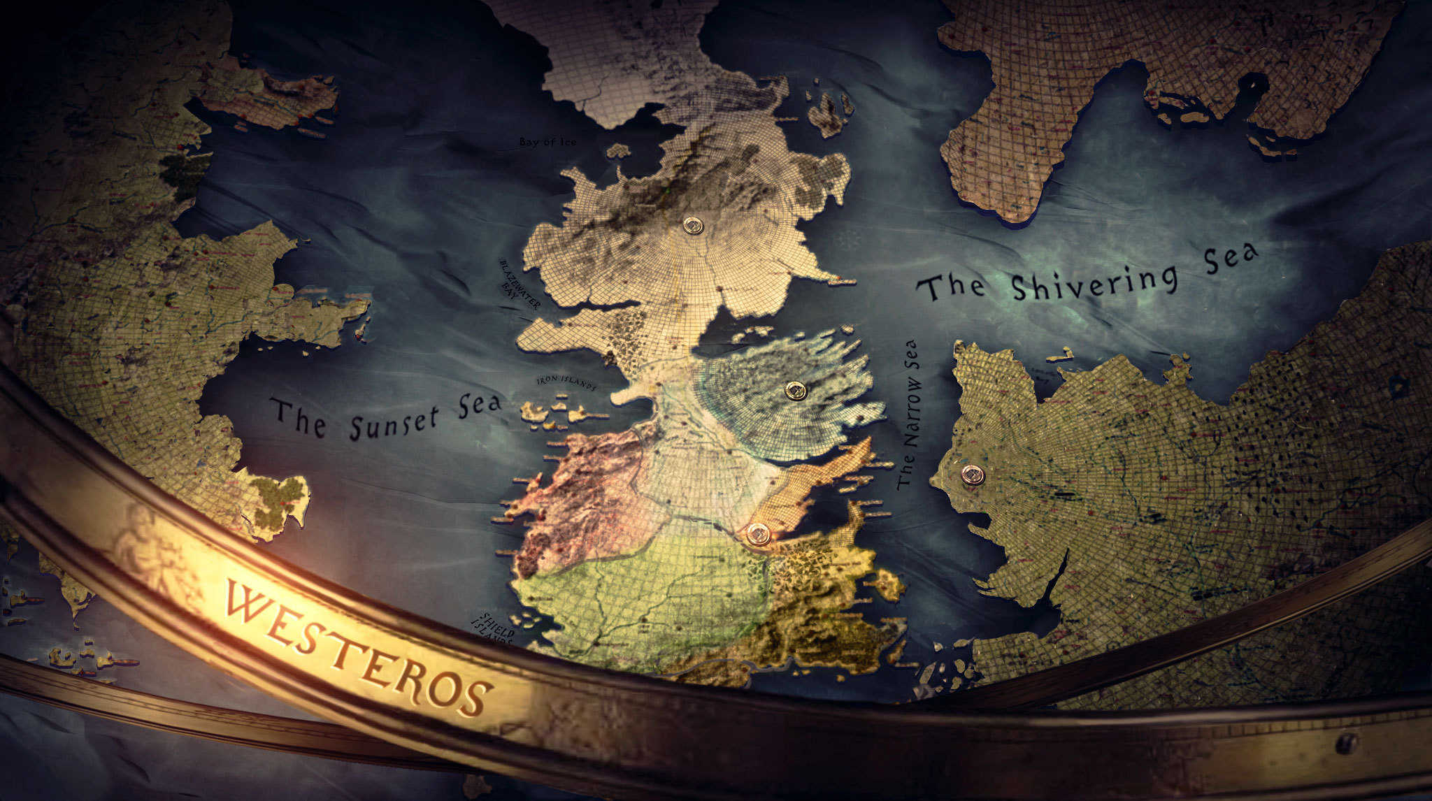 Opening Game of Thrones Map