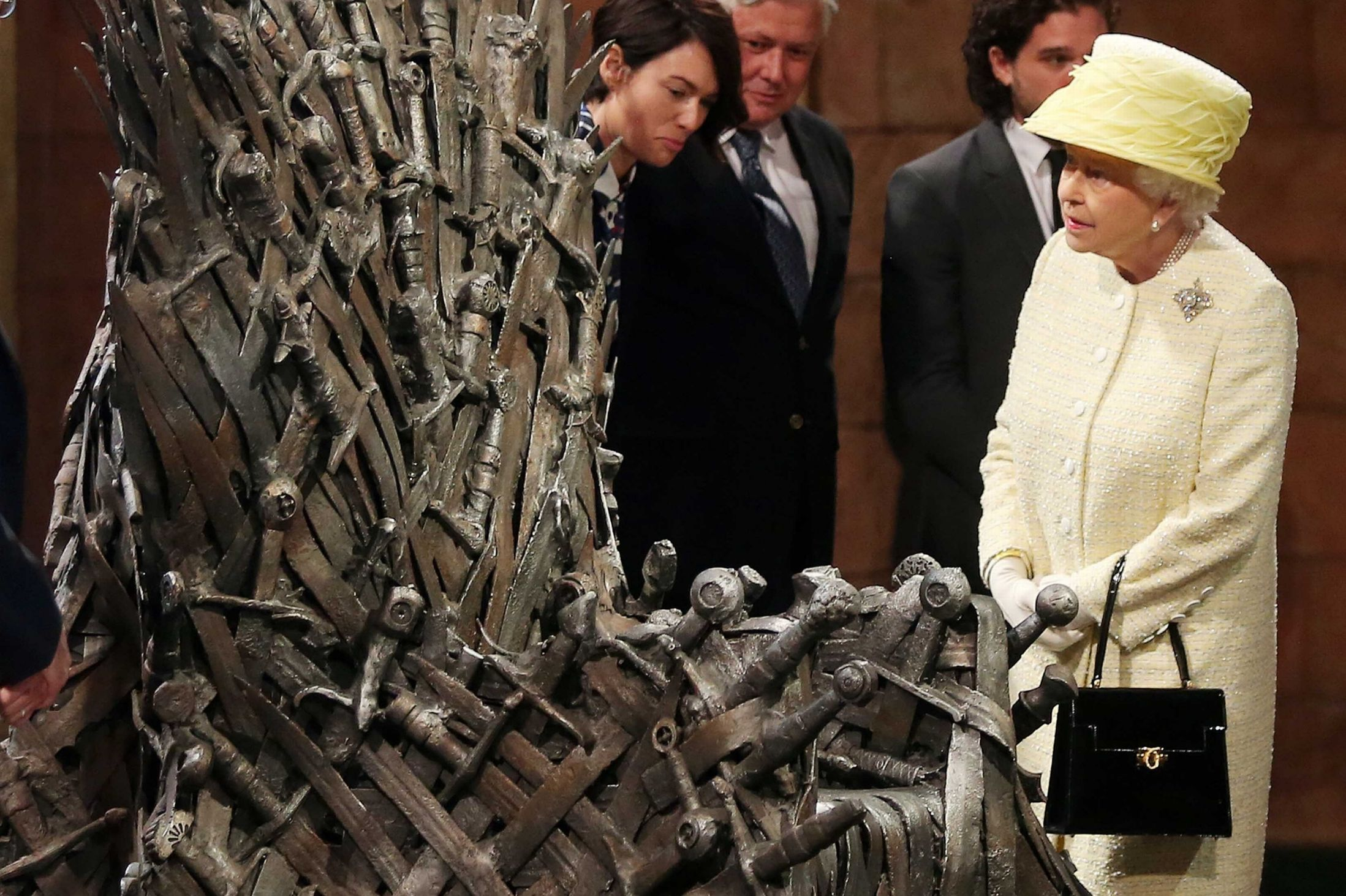 Queen Elizabeth Ii And The Iron Throne Game Of Thrones Wallpapers