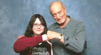 Charles Dance With a Fan