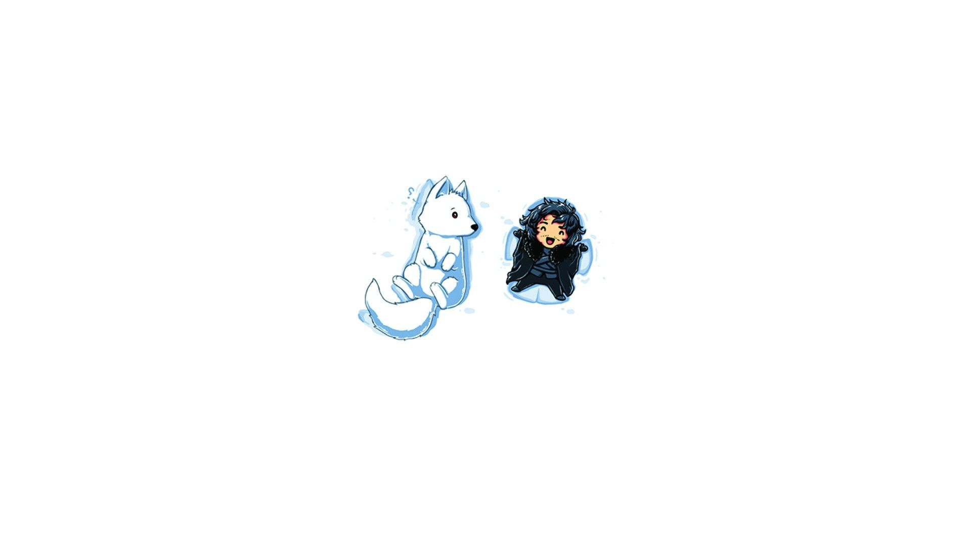 Ghost and Jon Snow Cartoon | Game Of