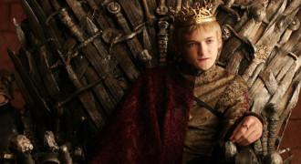 Prince Joffrey Baratheon on The Iron Throne