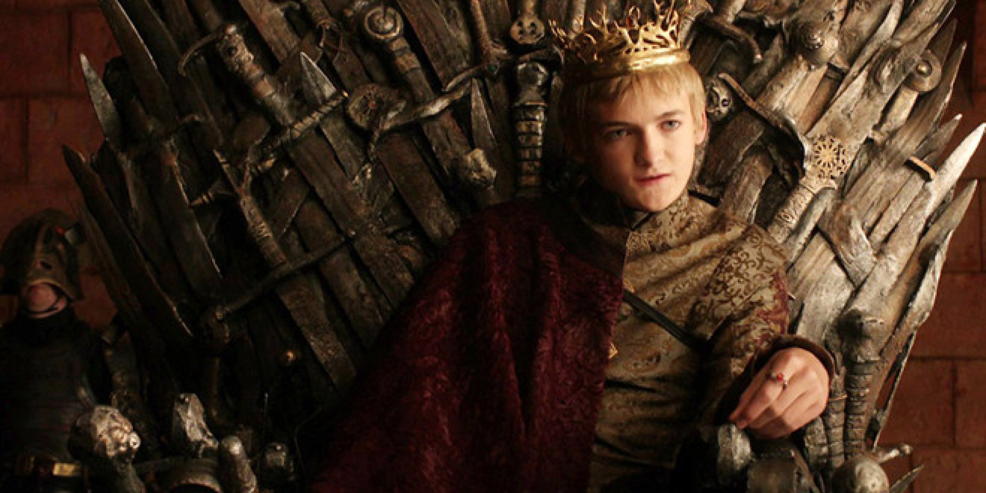 Prince Joffrey Baratheon On The Iron Throne Game Of Thrones