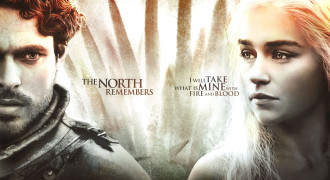Robb and Dany Promo Poster Quotes