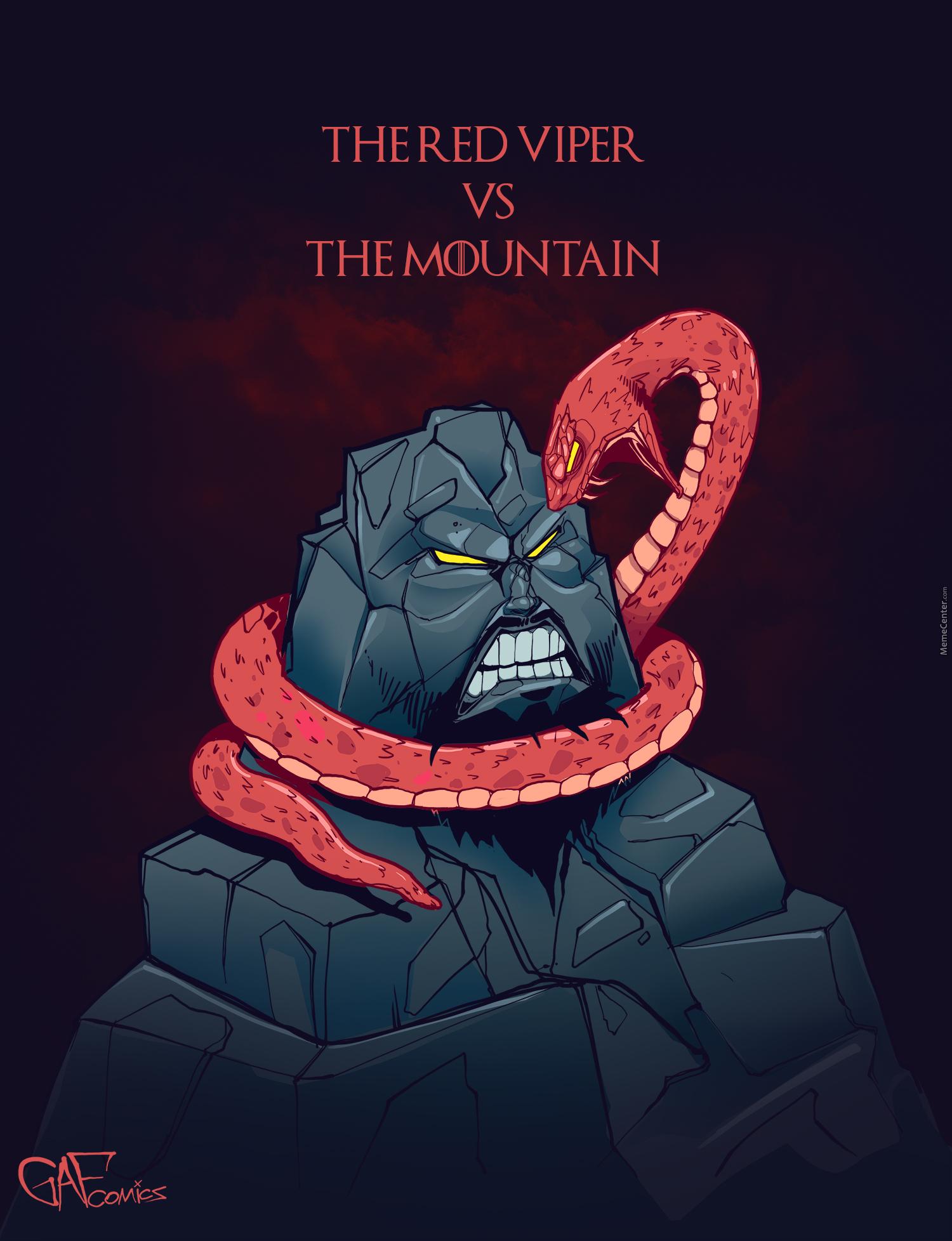 The Red Viper Vs The Mountain Cartoon